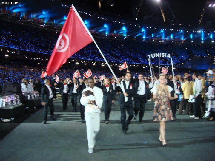 Délégation Tunisienne à la Cérémonie d'Ouverture des JO