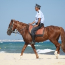 Security - sur la plage d'Hammamet