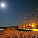 Club Med-Strand auf Djerba bei Nacht