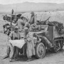 l'armée américain au abords de GAFSA - EL GETTAR Mars 1943